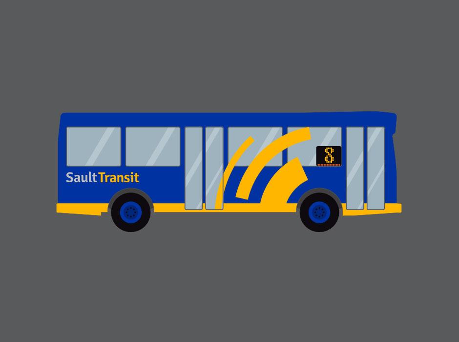 Sault Transit rebrand bus wrap