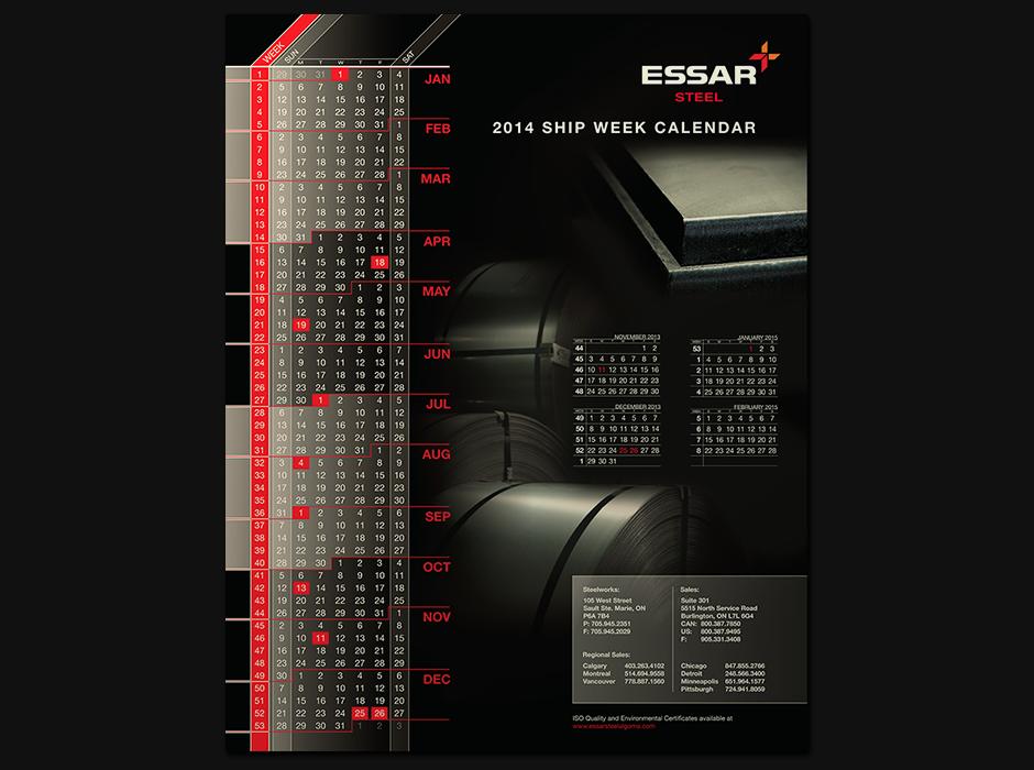Essar 2014 Ship Week Calendar