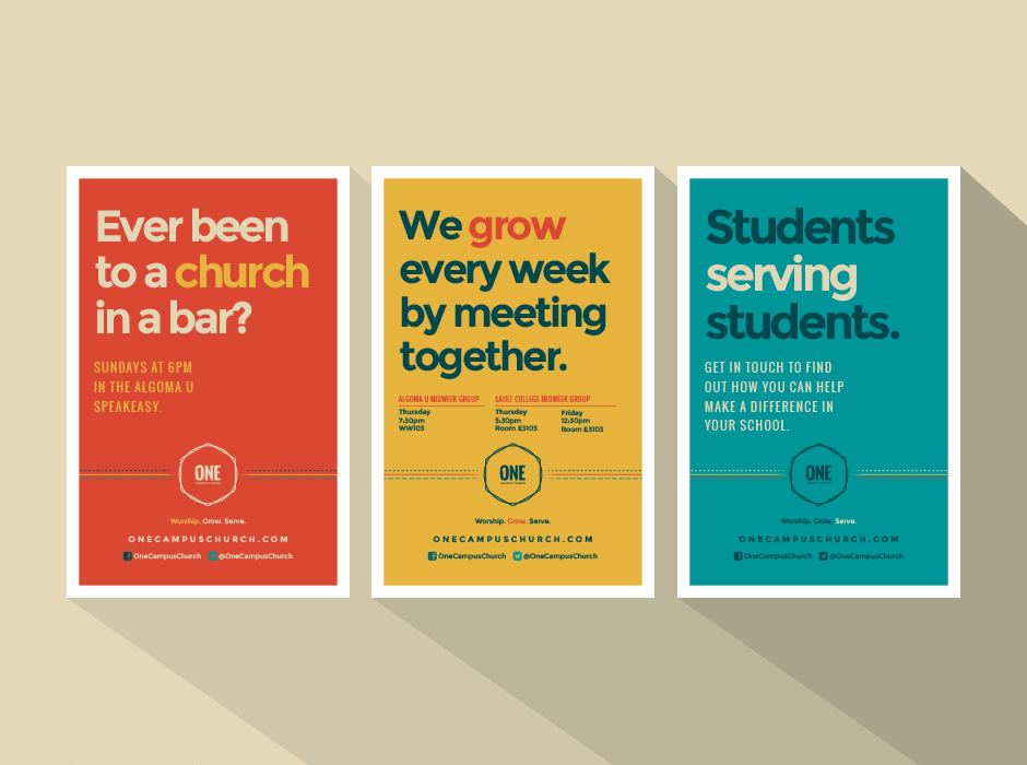 ONE Campus Church posters
