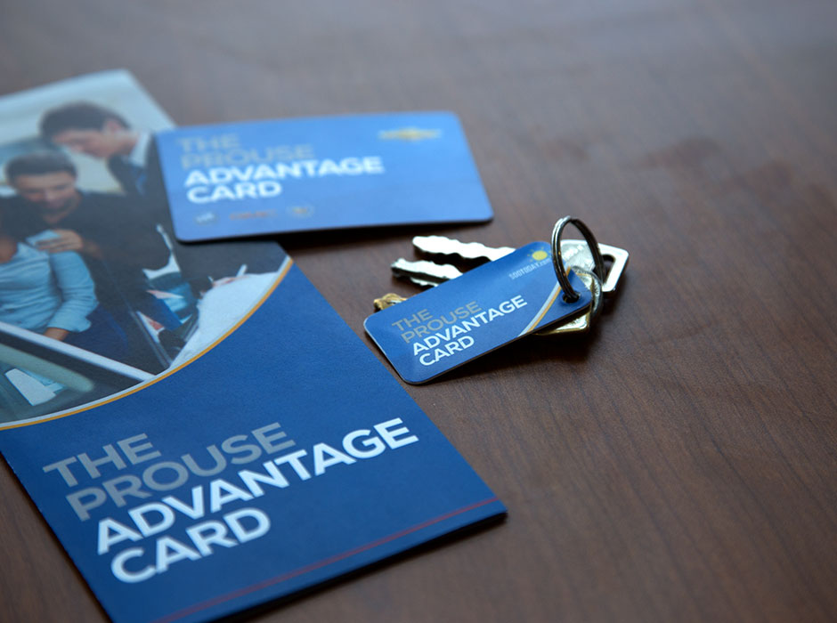 Prouse Advantage Card branding