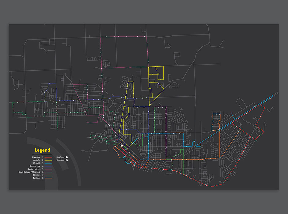 Sault Transit rebrand city transit map