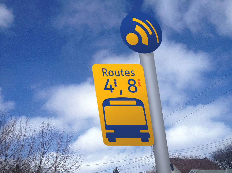 Sault Transit rebrand bus stop